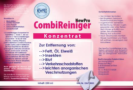 NewPro-Combo Cleaner Etikett