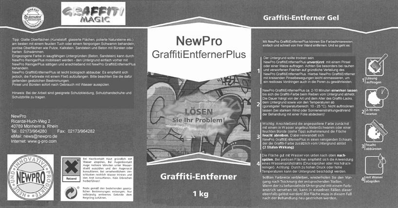 Graffiti Entferner Plus Etikett