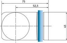 Winkel Glas/Glas 90°