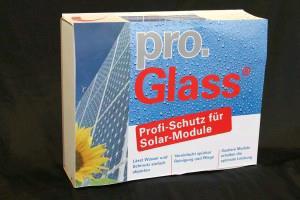 Beschreibung pro.Glass® Solar ist eine Beschichtung für Solar Module die Ihnen folgende Vorteile bietet: