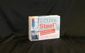 aktive.steel® schützt mattierte Edel-stahloberflächen vor Korrosion.