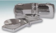 Scharnier Glas / Glas 180° fluchtend