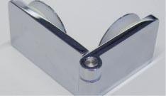Scharnier Glas/Glas 90°