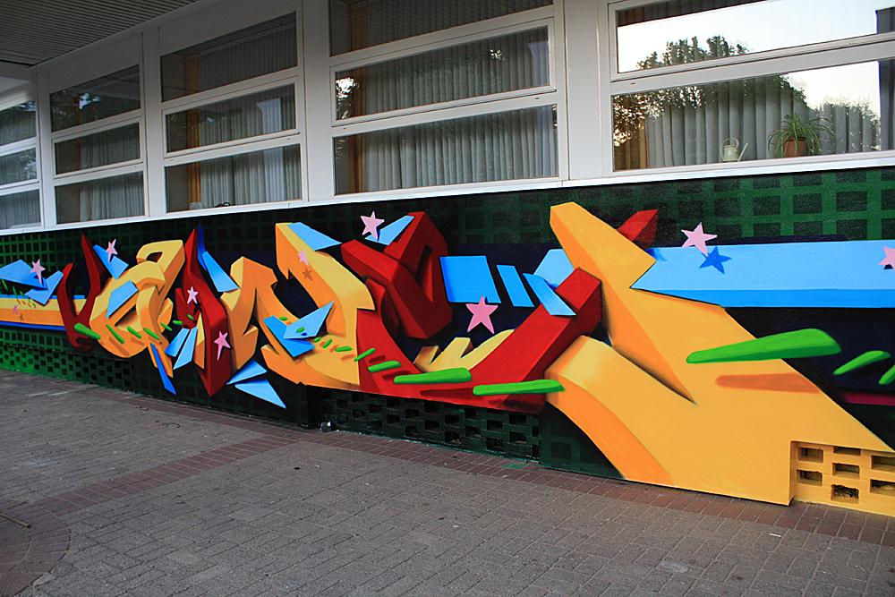 Ein mit Graffiti Magic vor Übermalung geschütztes Graffiti (von Vaine Graffiti-Gestaltung)