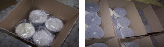 Verpackungsbeispiele der Polierlammfelle