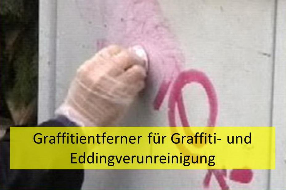 Graffitientferner für Graffiti- und Eddingverunreinigung