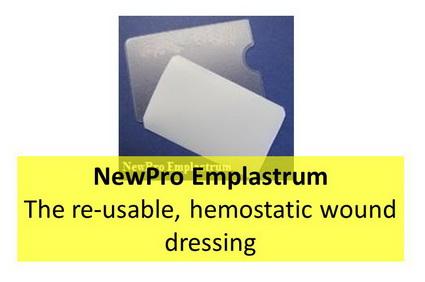 NewPro Emplastrum - Pflaster - die wiederverwertbare, blutstillende Wundauflage