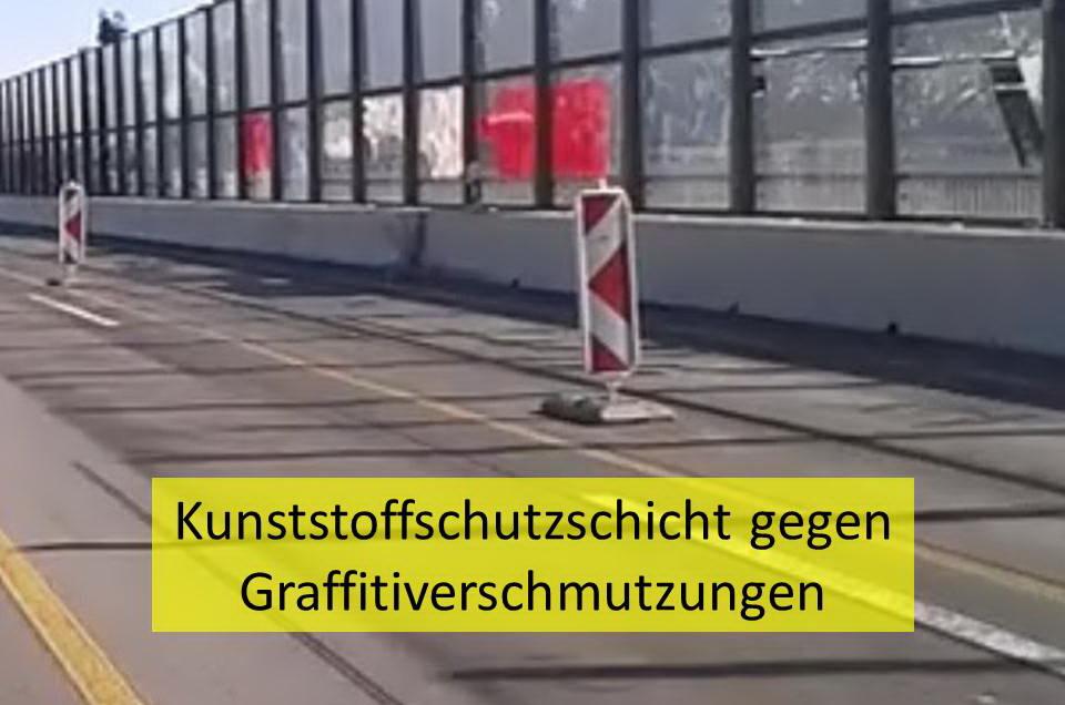 Kunststoffschutzschicht gegen Graffitiverschmutzungen