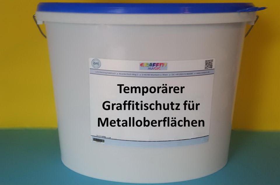 Temporärer Graffitischutz für Metalloberflächen