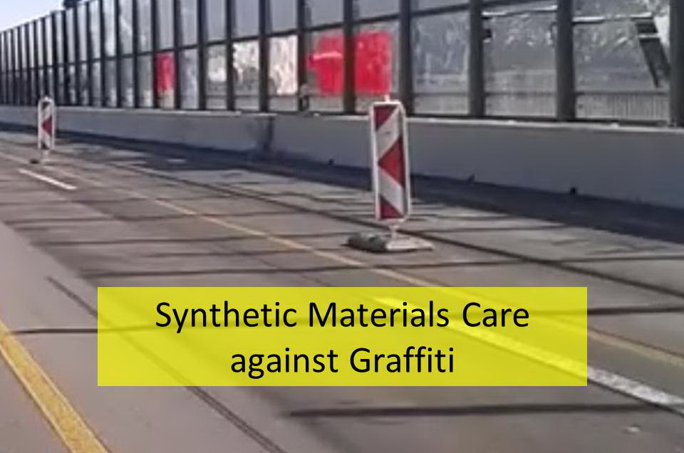 Plastic protection film against graffiti contamination