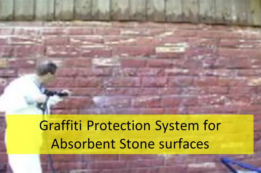 Graffiti Protection for absorbent stone surfaces